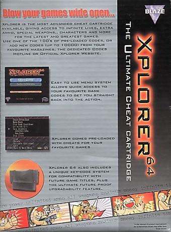 Xplorer 64 - The Ultimate Cheat Cartridge (www nesworld com)
